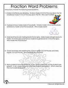 fraction stories worksheets 4109 january fractions word problems worksheet woo jr activities