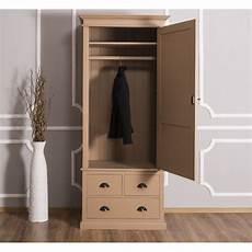 schmaler kleiderschrank schmaler kleiderschrank mit 3 schubladen massivholz