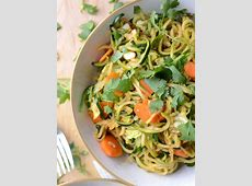 Zucchini Noodle Low Carb Vegan Chow Mein   Quick & Easy!