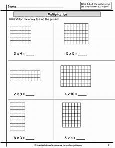 multiplication worksheets with arrays 4662 multiplication array worksheets from the s guide