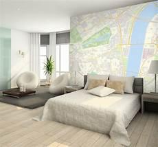 Schlafzimmer Tapete Modern - custom postcode wallpaper contemporary bedroom