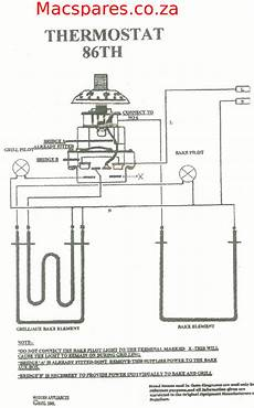 wiring diagram for oven thermostat wiring diagrams stoves switches and thermostats macspares wholesale spare parts supplying