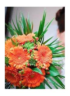 bouquet bridal orange gerbera wedding bouquet
