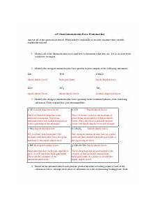 intermolecular force worksheet 1 intermolecular force worksheet 1 identify the strongest