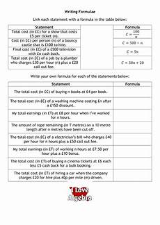 writing formulae by alutwyche teaching resources tes