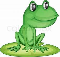 Ausmalbild Frosch Auf Seerosenblatt Frosch Auf Einem Seerosenblatt Stock Vektor Colourbox