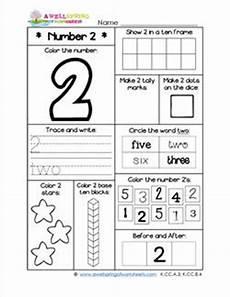 number worksheets for kindergarten number 2 worksheet