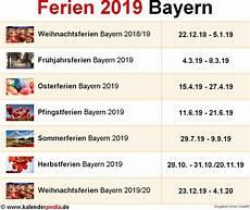 Ferien Bayern 2019 220 Bersicht Der Ferientermine