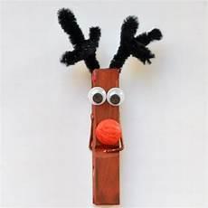Wäscheklammern Basteln Weihnachten - weihnachtsbasteln diy elch und weihnachtsmann mit