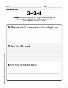 3 2 1 reading response graphic organizer printable graphic organizers and skills sheets