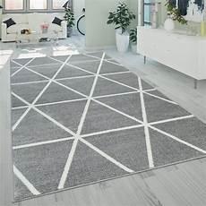 teppich grau kurzflor kurzflor wohnzimmer teppich modern geometrisches design