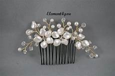 bridal comb ivory pearls hair piece wedding hair accessories white pearls hair comb flower