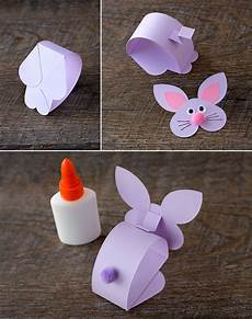 paper bobble bunny craft for bunny crafts