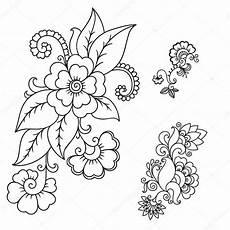 Henna Blume Vorlage Mehndi Stockvektor 169 Rugame