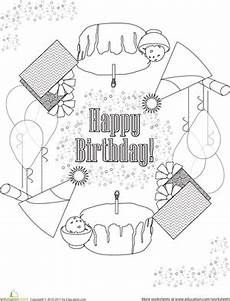 birthday mandala worksheet education