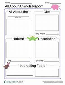 animal report worksheets 14023 all about animals report worksheet education