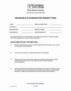 reasonable accommodations request