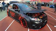 ford focus rs black tuning wheels show car