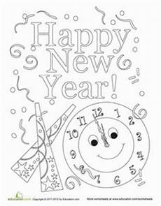 Neujahr Malvorlagen Januarie Festive New Year Hat Coloring Page Silvester