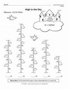 plants measurement worksheets 13586 and the beanstalk measuring with a ruler the beanstalk grade math