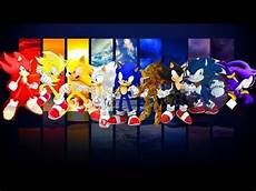 sonic the hedgehog all forms of sonic youtube