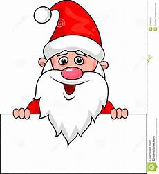 santa clause with blank sign royalty free stock