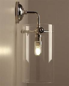 asher contemporary glass bathroom wall light