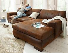 couch braun couch sofa ecksofa garnitur braun wildleder in 34117
