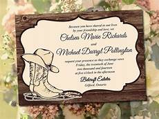 Diy Western Wedding Invitations