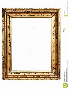 weathered golden picture frame w path stock image image