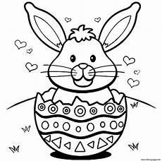easter bunny with eggs coloring page at getdrawings free
