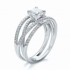 custom pave diamond multi band engagement ring 100612 seattle bellevue joseph jewelry