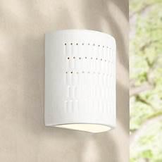 ceramic outdoor wall light zenia 10 quot high white ceramic outdoor wall light w2761 ls plus