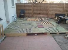 construire une terrasse en palette terrasse structure palette