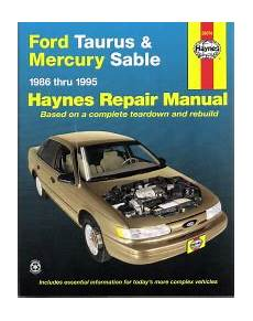 vehicle repair manual 1986 mercury sable head up display 1986 1995 ford taurus mercury sable haynes repair manual
