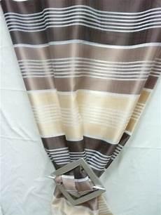 vorhänge braun beige deko stoff gardine vorhang gestreift beige braun creme