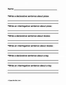 interrogative worksheets 18912 declarative and interrogative sentences worksheet by elyssa vandelinde