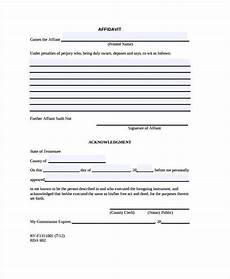 free 42 affidavit forms in pdf