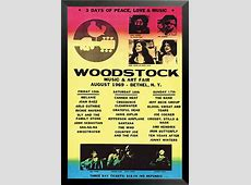 Buy Art For Less 'Woodstock Line Up 1969 Poster' Framed