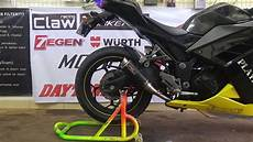 suara knalpot proliner carbon short di kawasaki 250fi youtube