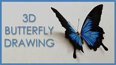 Schmetterling 3d - drawing a 3d butterfly anamorphic illusion