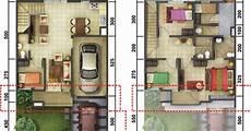 Lingkar Warna Denah Rumah Minimalis Ukuran 8x15 Meter 5