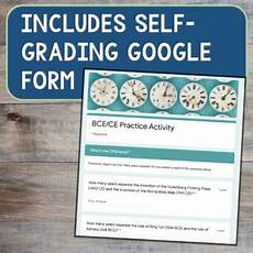 bc ad bce ce timeline activity with information sheet worksheet and answer key