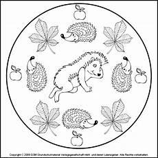 Ausmalbilder Herbst Mandala Kostenlos Herbst Mandala Igel 2 Medienwerkstatt Wissen 169 2006 2017