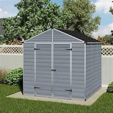 palram skylight plastic anthracite apex shed 8x8 garden street