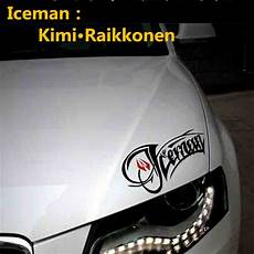Aliexpress Buy Car Stickers F1 Driver Iceman Kimi