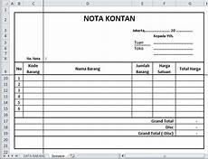 pengetahuan umum akuntansi contoh nota kontan nota kredit dsb
