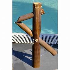 Fontaine Japonaise En Chaume De Bambou Marron L 40 X H 50