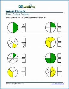 fraction worksheets level 1 4001 1st grade fractions math worksheets k5 learning