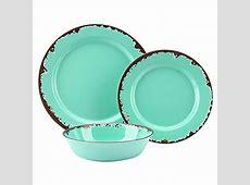 Amazon.com   Rustic Melamine Dinnerware Set   12 Pcs